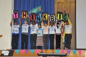 Students performing THINK BIG