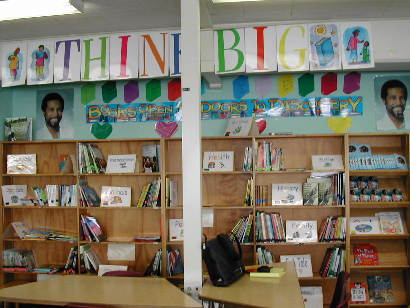 THINK BIG bookshelf