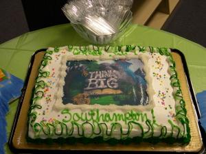 THINK BIG cake