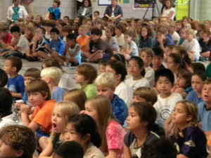 children at assembly