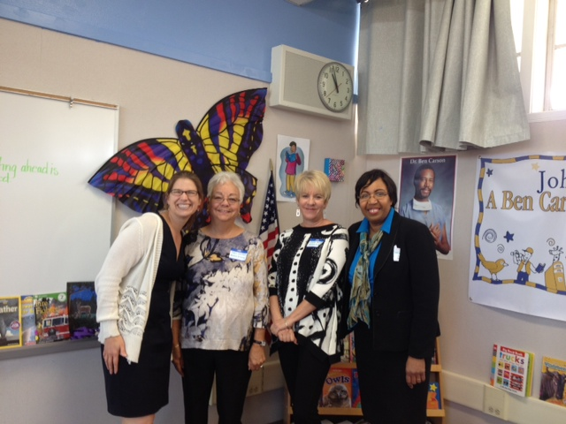 donors with Mrs. Carson