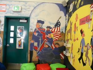 patriot mural