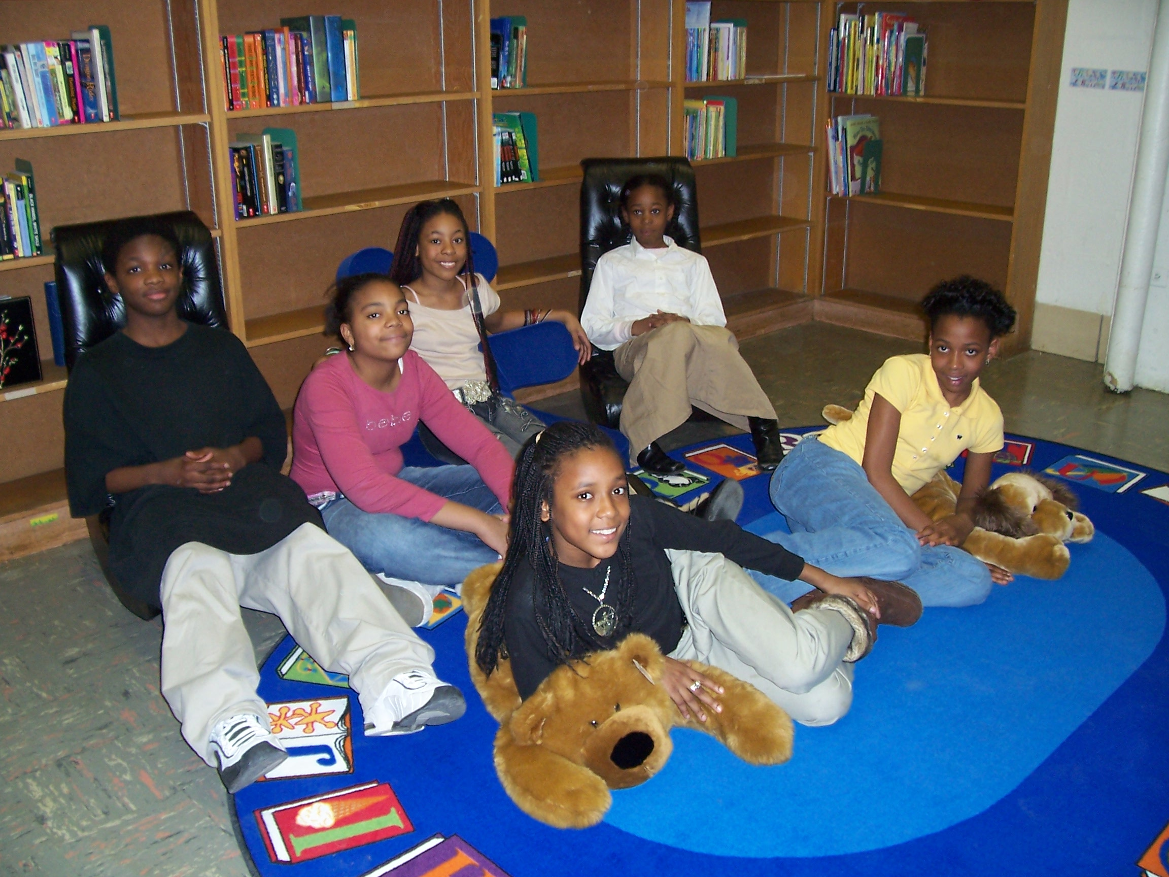 students on chair