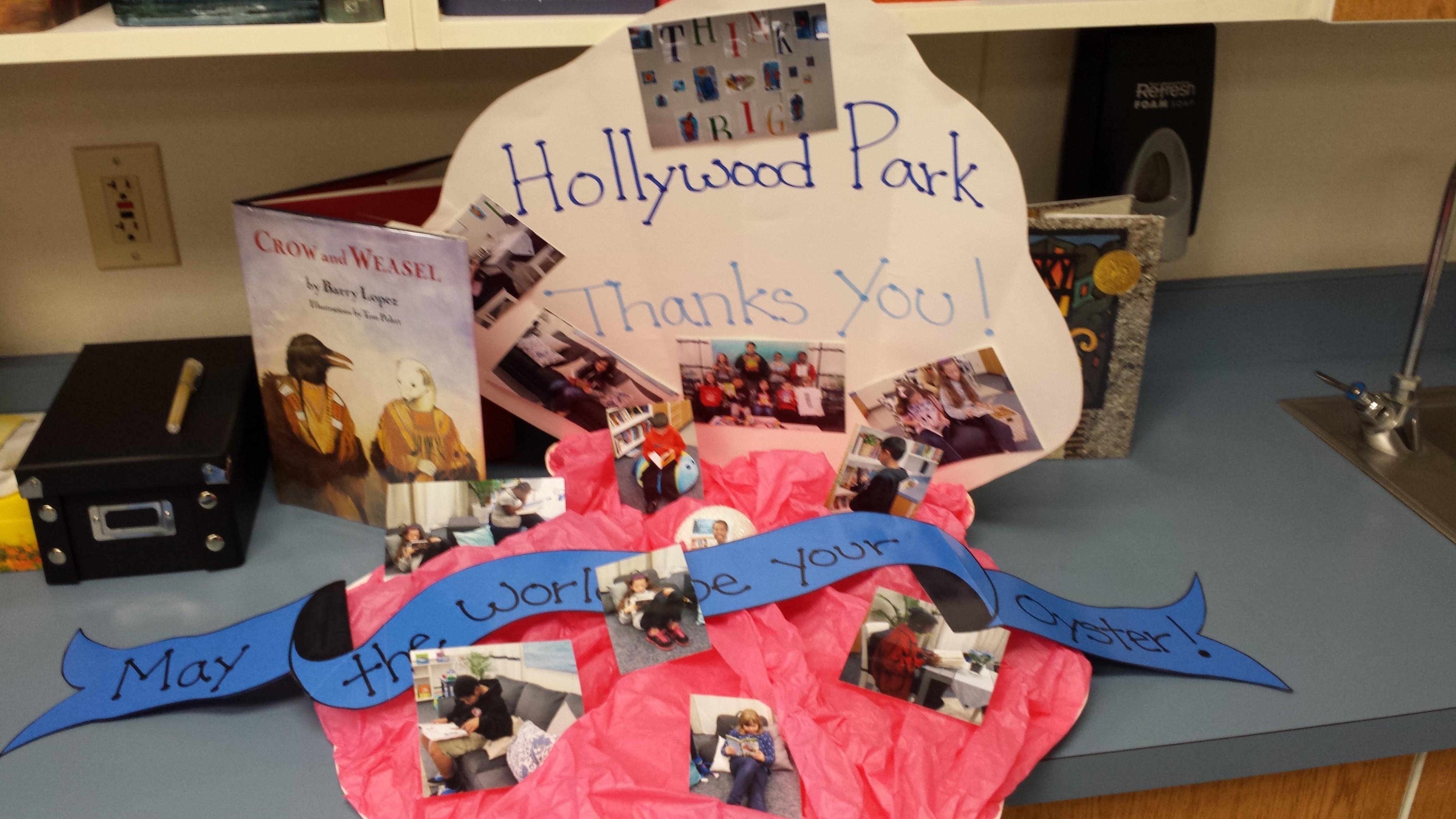 Hollywood Park ES reading room display II