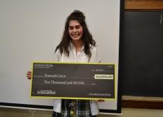 Hannah Grice with Award